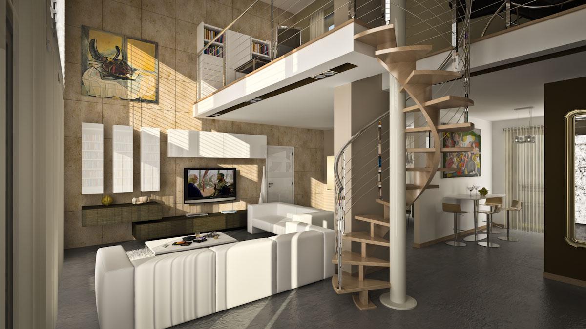 Rendering interni palazzi Buccinasco - MI