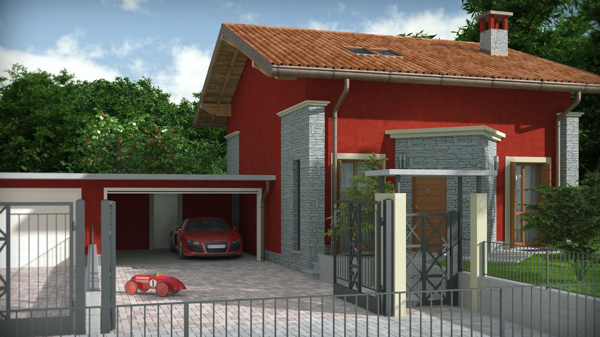 Esterni ville moderne qu32 pineglen for Rendering giardino