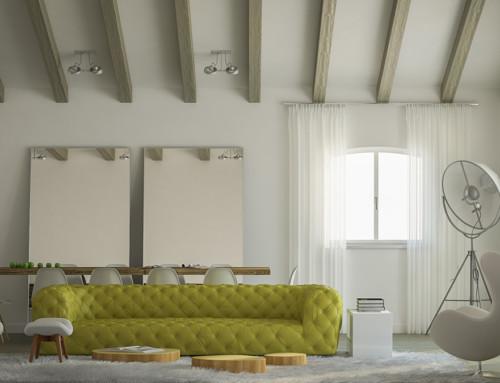 Rendering interni villa