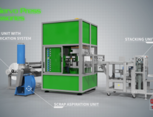 Animazione 3D pressa industriale alluminio