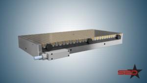 Immagine del piano magnetico prodotto da SPD utilizzato per animazione 3D rettifica