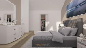 rendering interni loft matrimoniale