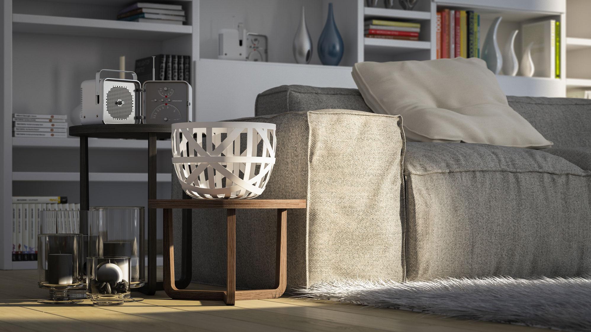 rendering interni divano