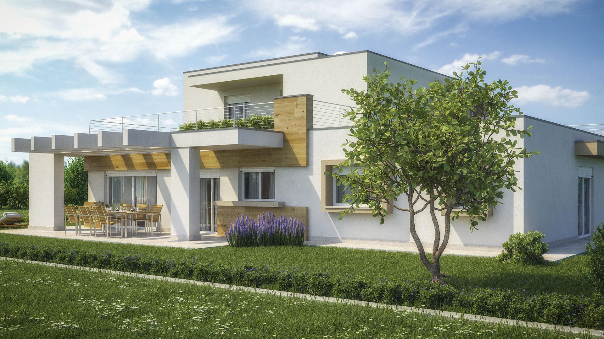 Render villa moderna